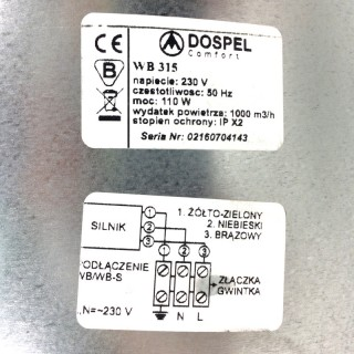Осевой вентилятор Dospel WB 315