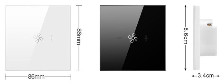 Габаритные размеры умного регулятора скорости