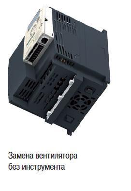 Замена вентилятора без инструмента в частотнике Schneider Electric ATV12H037M2