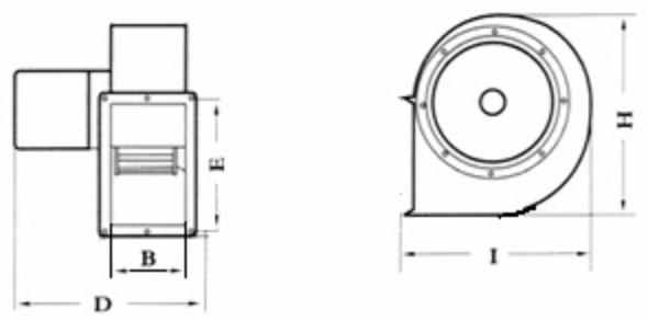 Габаритні розміри вентилятора Turbovent TURBO DE 250 3F