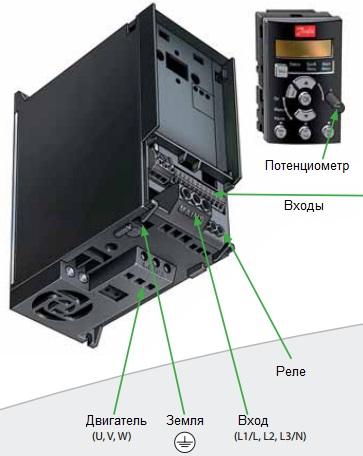 Подключение частотного преобразователя Danfoss FC-51 132F0058