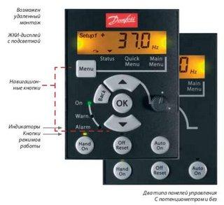Панель управления для частотника Данфосс 132F0010