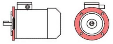 АИРЕ56B4 IM3081 Фланцевый