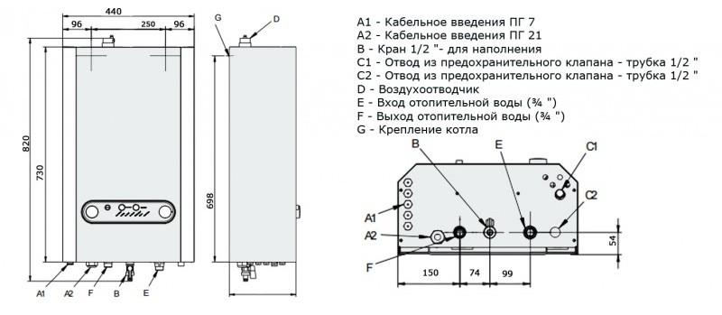 Конструкция электрического котла Roda Strom SL 8