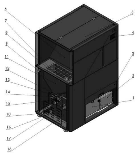 Конструкция пеллетного котла Temomont TOBY 20 кВт