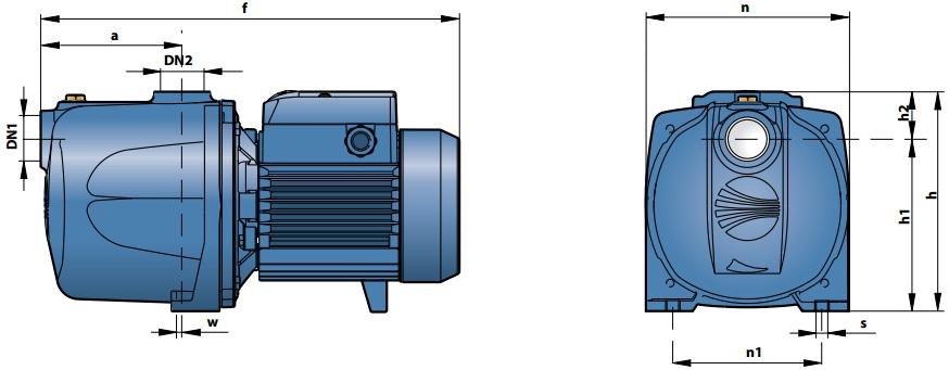 Габаритные размеры насосного оборудования Pedrollo 2 CP 80-C
