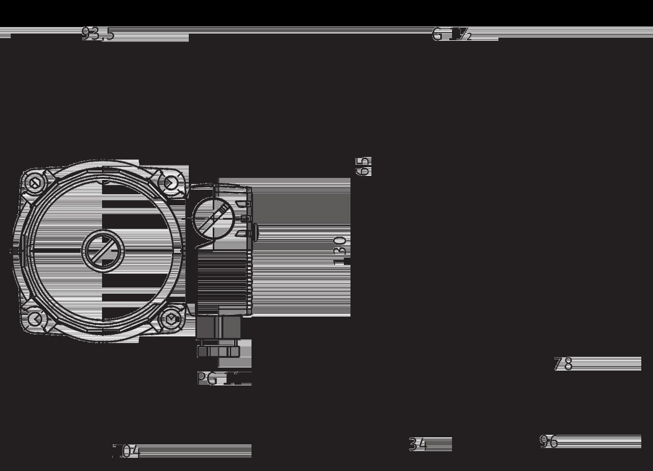 Габаритные размеры циркуляционного насоса Wilo Star-RS 25/4
