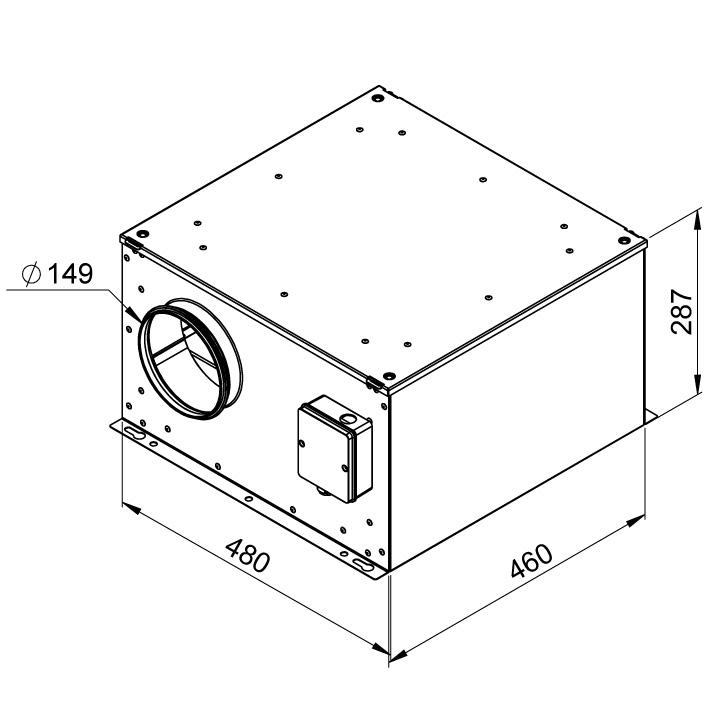 Габаритные размеры вентилятора Ruck ISOR 150 E2 11