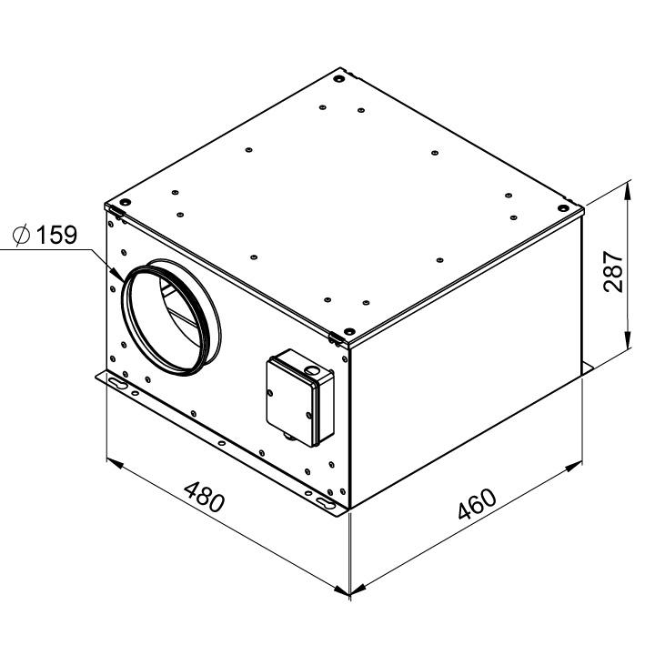 Габаритные размеры вентилятора Ruck ISOR 160 E2 11