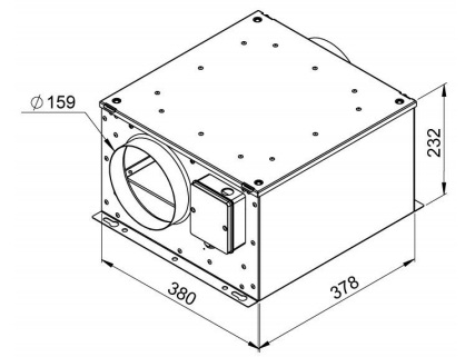 Габаритные размеры вентилятора Ruck ISORX 160 E2S 10