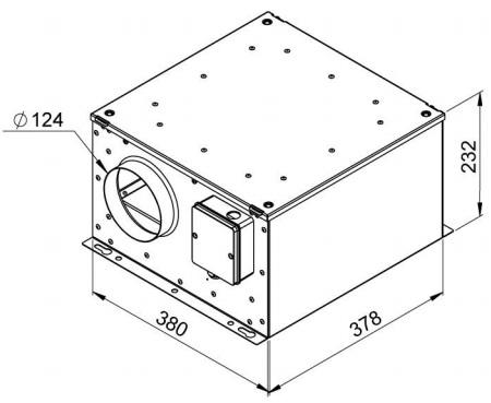 Габаритные размеры вентилятора Ruck ISORX 125 E2S 10