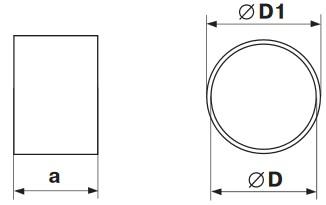 Габаритные и монтажные размеры 1113 Соединитель d100 для гибких каналов