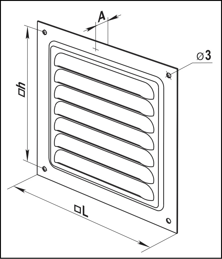 Габаритные размеры приточно-вытяжной решетки ВЕНТС МВМ 200 с Ц