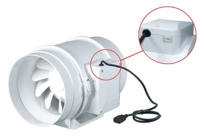 Внешний вид 2х скоростного вентилятора ВЕНТ ТТ 100