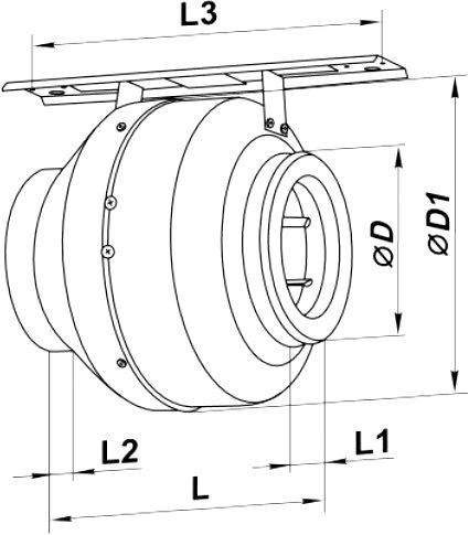 Монтажные размеры вентилятора ВЕНТС ВКМ 100 Б